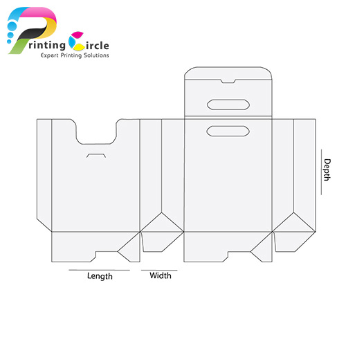 Bag-Shaped-Box-With-Handle-Template